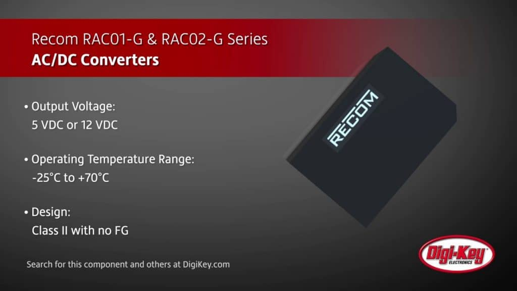Recom Ac Dc Converters Rac G Racw W For Smart Home And Smart Office