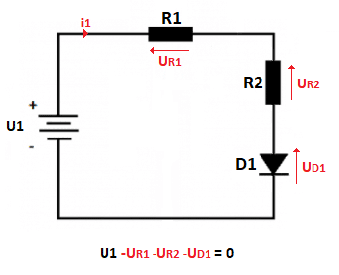 Presentation of 2nd Kirchhoff's Law in electrical circuit