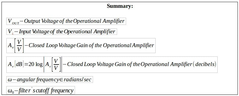 active filters summary 1