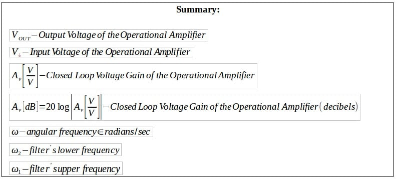 active filters summary 2