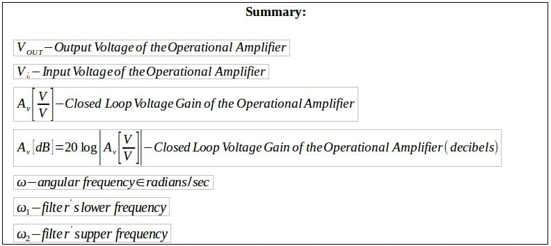 active filters summary 4