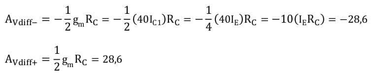differential amplifiers task formulas 27