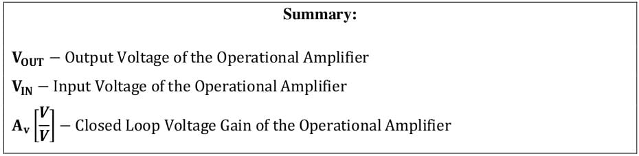 operational amplifier formulas 31