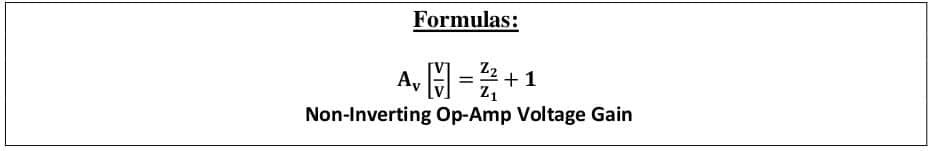 operational amplifier formulas 32