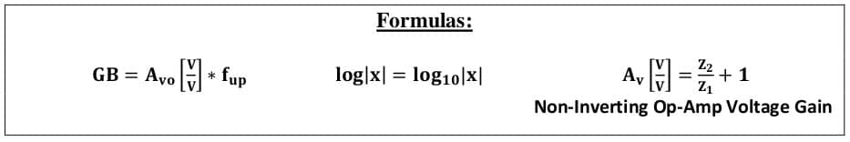 operational amplifier formulas 42