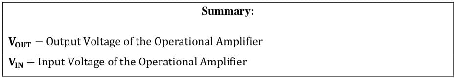 operational amplifier formulas 71