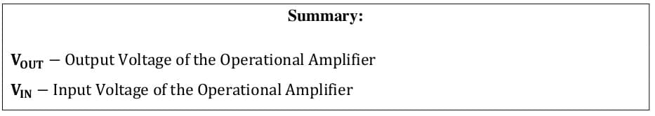 operational amplifier formulas 81