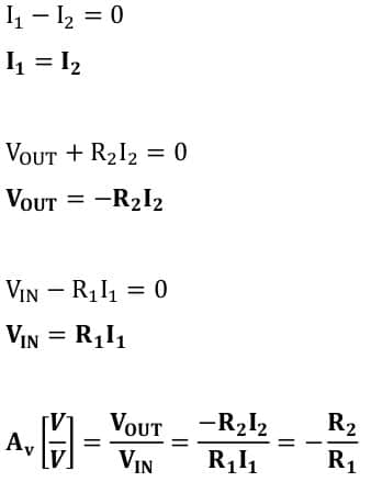 operational amplifier task formulas 11