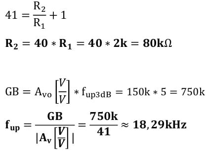 operational amplifier task formulas 23