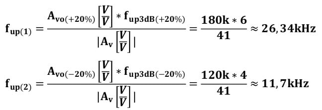 operational amplifier task formulas 25