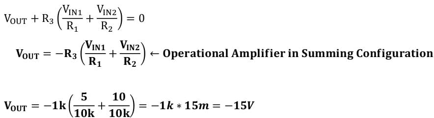 operational amplifier task formulas 51