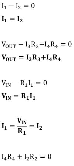 operational amplifier task formulas 91