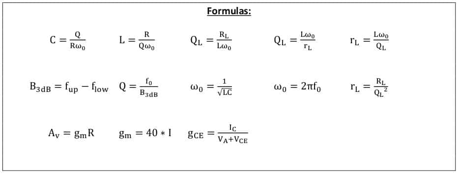 selective amplifier formulas 2