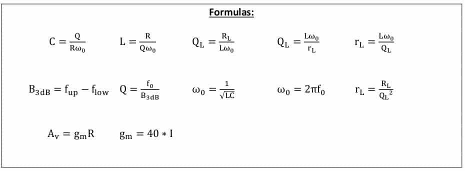 selective amplifier task formulas 1