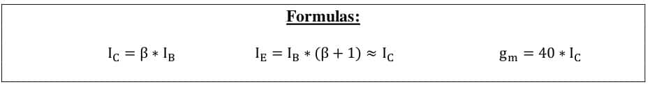 small signal amplifier formulas 12