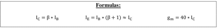 small signal amplifier formulas 32