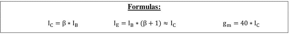 small signal amplifier formulas 62