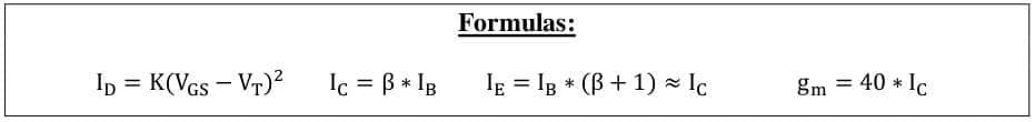 small signal amplifier formulas 72