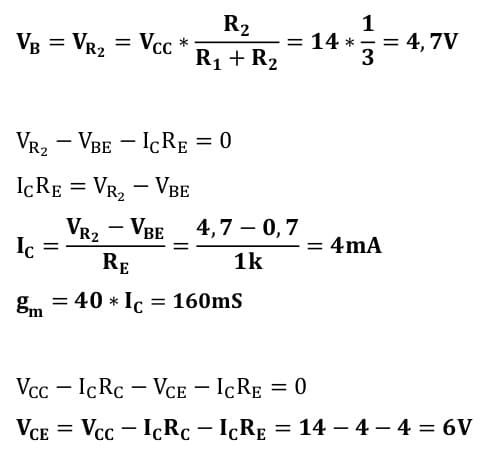 small signal amplifier task formulas 10
