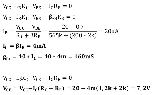 small signal amplifier task formulas 101