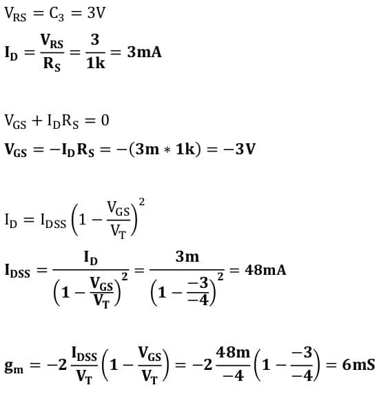 small signal amplifier task formulas 111