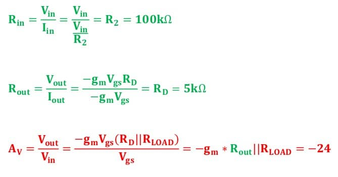 small signal amplifier task formulas 112