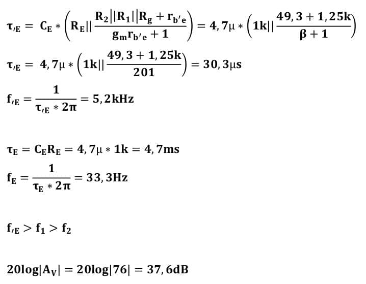 small signal amplifier task formulas 18