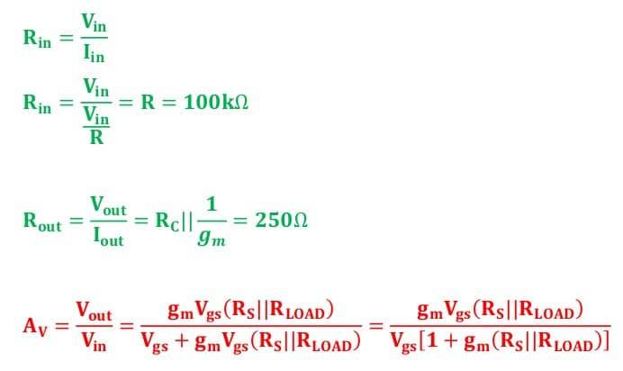 small signal amplifier task formulas 21