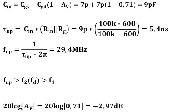small signal amplifier task formulas 25