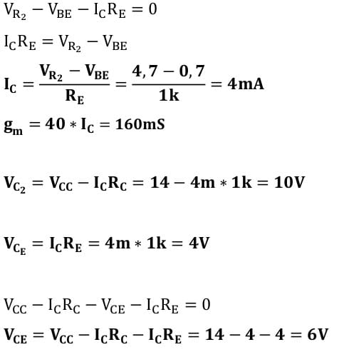 small signal amplifier task formulas 42