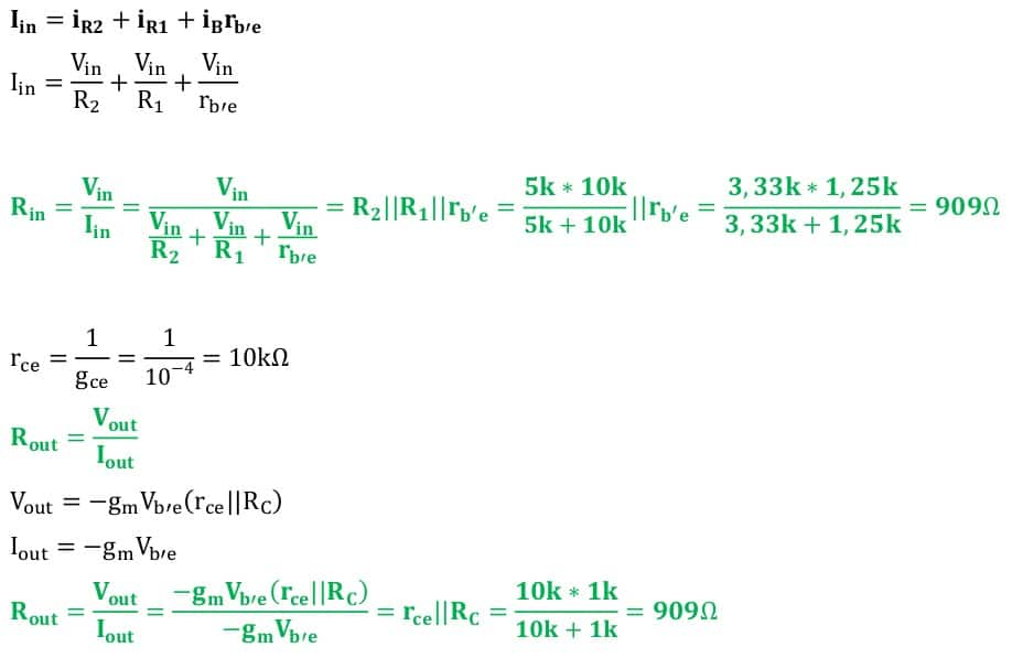 small signal amplifier task formulas 44