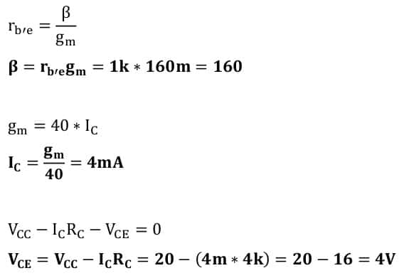small signal amplifier task formulas 61