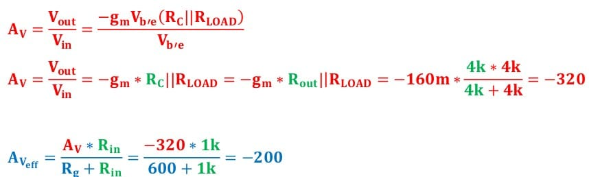 small signal amplifier task formulas 64