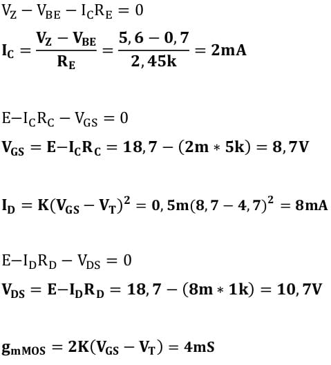 small signal amplifier task formulas 71