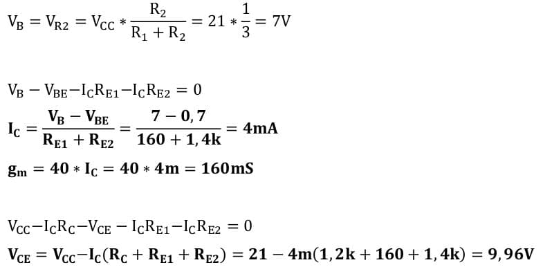 small signal amplifier task formulas 91
