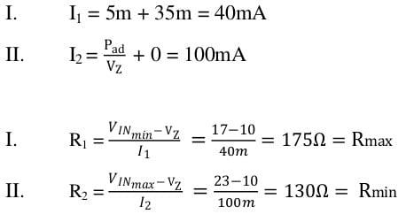 zener diode task formulas 22