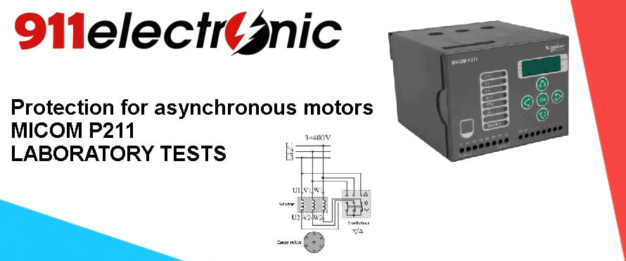 LABORATORY TEST - Relay for asynchronous motors MICOM p211 thumb