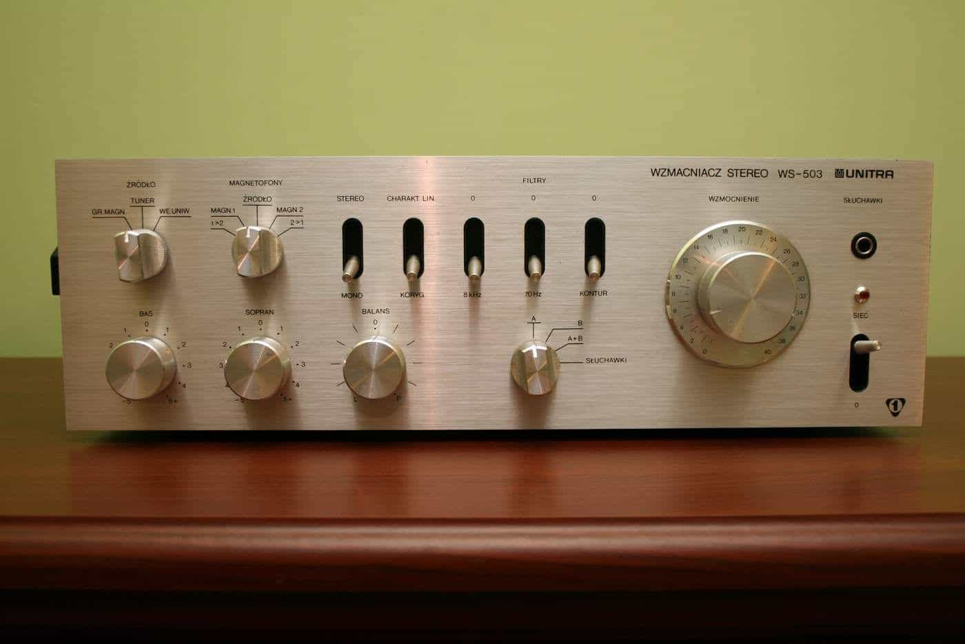 unitra audio stereo power amp