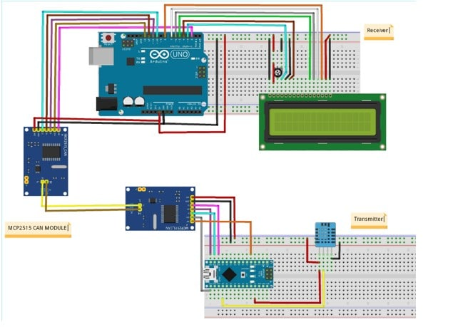 CAN Circuit design using Arduino