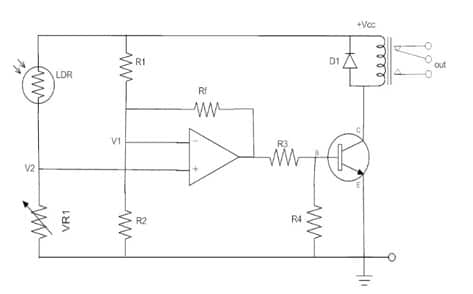 Light activated differential amplifier