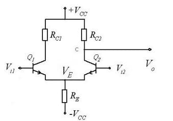 Single ended differential amplifier