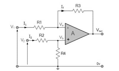 differential amplifier equotation