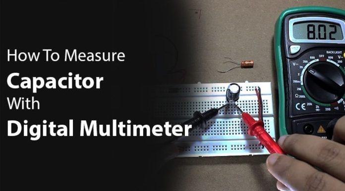multimeter measure capacitance
